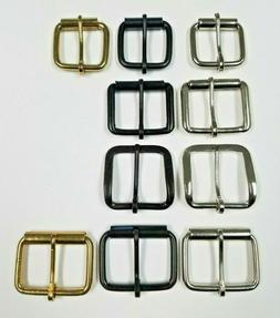 1 1/2 3/4 Plain Belt Buckle Nickel Plated Black Brass 10 50