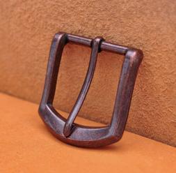 "1-1/2"" Antique Copper Heavy Square Single Prong Pin Clip Bel"