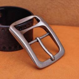 """1-1/2"""" Men Solid Quality Nickel Matte Center Bar Leather Bel"""