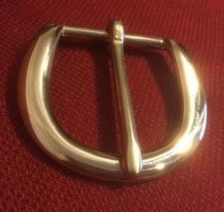 """1-1/2""""  Solid Brass Belt Buckle - Classic D style with Heavy"""