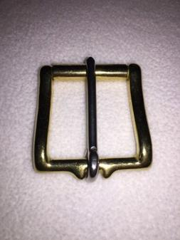 "1-1/2"" Solid Brass Belt Buckle With Roller"