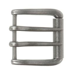 "1 5/8""  Nickel Free Rectangular Clamp Belt Buckle"