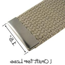 10 Metal Belt Buckle End Tips for Cotton Webbing - 1.5 Inch