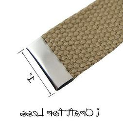 10 Metal Belt Buckle End Tips for Cotton Webbing - 1 Inch  -