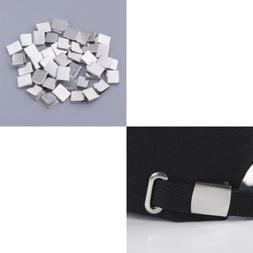 100pcs DIY Metal Belt Buckle End Tips for Webbing Belt Tag R