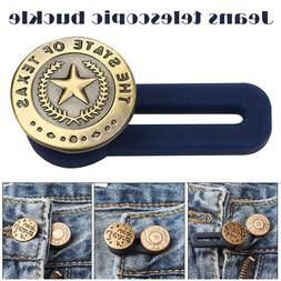 10pcs Jeans Retractable Button Adjustable Detachable Extende