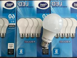 12 Pack LED 60W = 9W Daylight 60 Watt Equivalent A19 5000K E