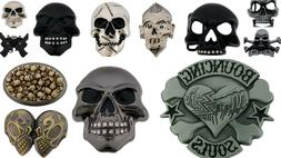 12 Wholesale Lot Skulls Skeletons Belt Buckles Closeout Goth