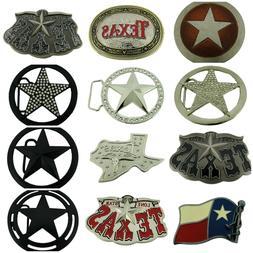 12Pcs Wholesale Belt Buckles Texas Usa Flag Map Cowboy Weste