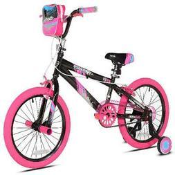 "Kent 18"" Sparkles Girls Bike, Black/Pink"