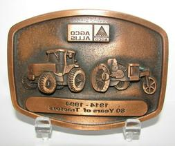 *1994 Agco Allis 10-18 & 9650 Tractor Pewter Belt Buckle Spe
