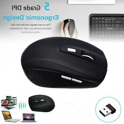 2.4GHz Adjustable DPI Wireless Optical Mouse Mice+USB Receiv
