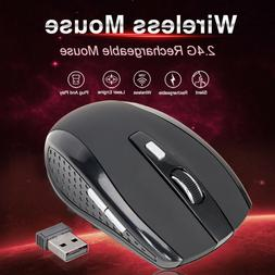 2.4GHz Wireless Optical Mouse Mice USB Receive For PC Laptop