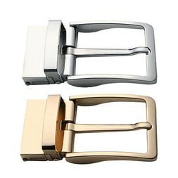 2 Packs Men Single Prong Belt Buckle Replacement 1.5 inch Go