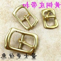 2 X Brass Buckles for Leather Belt Bag Coat Jacket Shoes 1.3