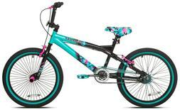 "Kent 20"" Tempest Girl's Bike, Black/Aqua"