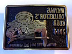 2014 MAYTAG COLLECTORS CLUB Belt Buckle WWII BACK PACK GENER
