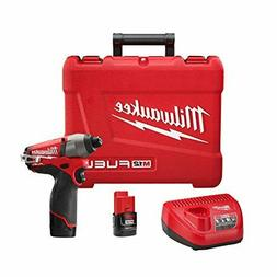 Milwaukee 2453-22 M12 Fuel 1/4 Hex Impact Driver with 2 Batt