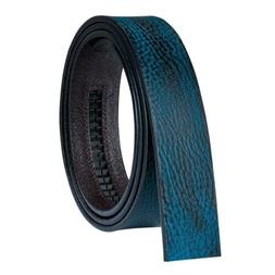 """26"""" to 48"""" Mens Replacement Belts Blue Real Leather Ratchet"""