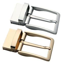 2Pcs Simple Rectangular Belt Buckle Polished Reversible Ratc
