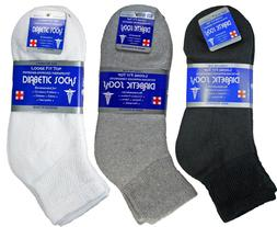 New 3-12 Pairs Mens Diabetic Ankle Quarter Socks Cotton Circ