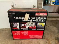 craftsman 3 gallon air compressor 1.5 hp/1.0hp running