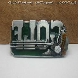 3D Cowboy Belt Buckle Men Novelty Zinc Alloy Golf Belt Buckl
