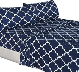Utopia Bedding 4-Piece Bed Sheet Set  - 1 Flat Sheet, 1 Fitt
