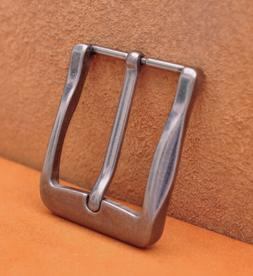 40mm Antique Silver Casual Men Pin Waist Leather Single Pron