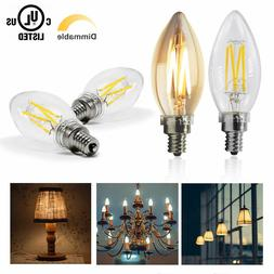 40W Equivalent,2700K Daylight Dimmable Warm Chandelier LED B