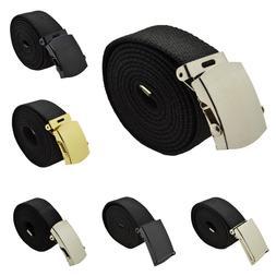 "48"",54"",60"",72"" Canvas Web Belt Military Style Plain Belt &"