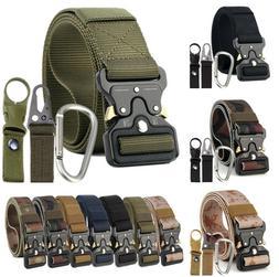 4PCS Adjustable Men Military Belt Buckle Combat Waistband Ta