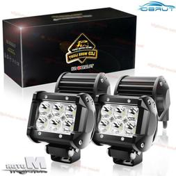 4x 4INCH 240W LED WORK LIGHT BAR FLOOD OFFROAD SUV ATV FOG T