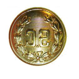 "5 1/2"" SANTA CLAUS ""SC""  BELT BUCKLE BRIGHT GOLD   FITS 4"" B"