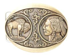 5 Cents Buffalo Indian Nickel Western Bronze Plated Metal Be