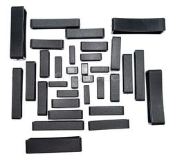 5pcs/lot Plastic Keeper <font><b>Belt</b></font> Loop Square