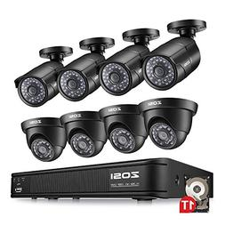 ZOSI 8-Channel HD-TVI 1080P Lite Video Security Camera Syste