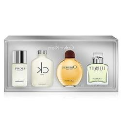 Calvin Klein 4 Pcs Mini Gift Set W/ Eternity Obsession CK On