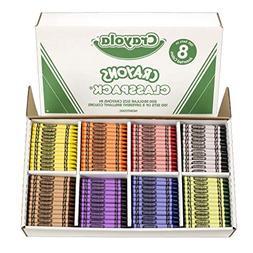 Crayola BIN528008 Crayon Classpack, Regular Size, 8 Colors,