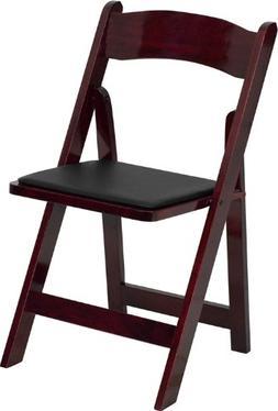 Flash Furniture HERCULES Series Mahogany Wood Folding Chair