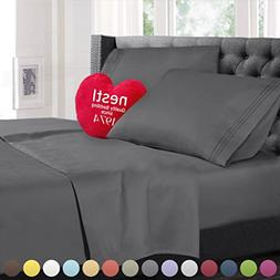 Nestl Bedding 4 Piece Sheet Set - 1800 Deep Pocket Bed Sheet