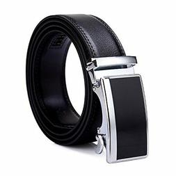Tonly Monders Men's 35mm Dress Leather Ratchet Belt,Buckle B