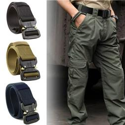 adjustable men military belt buckle combat waistband