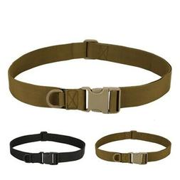 Mens Adjustable Tactical Combat Web Gun Belt Buckle Military