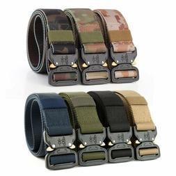 Adjustable Men Military Belt Buckle Combat Waistband Tactica