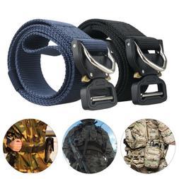 Adjustable Men Military Belt Buckle Combat Waistband Tactica