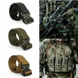 Adjustable Outdoor Heavy Duty Rigger Men Military Belt Buckl