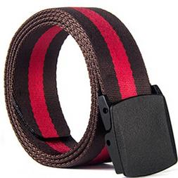 Anti-allergic No Metal Belt Buckle Canvas Nylon Belt Men's L
