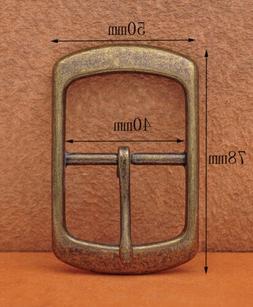 Antique Brass Center Bar Belt Buckle for Leather Belt Replac