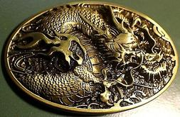Antique Bronze color DRAGON Western style Belt Buckle Full M
